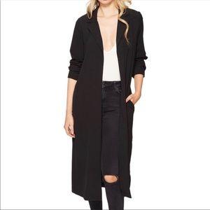 NWOT Kensie Long Sleeve Black Duster Jacket